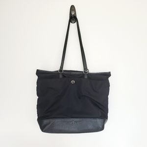 Coach nylon black magnetic top handle tote
